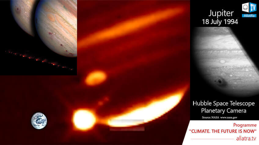 Collision of the comet with Jupiter instead of Earth. What has happened in 1994?