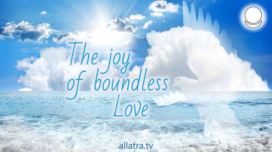 The joy of boundless Love. Real happiness