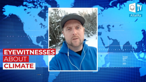 Freezing cold and blizzard in Canada. January, 2020. The eyewitness exclusively for ALLATRA TV