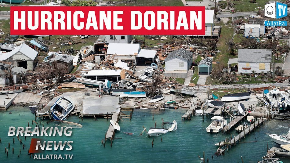 Hurricane DORIAN: Anomalous Behaviour. Part of Bahamas is UNDER WATER. Forecasts Work no Longer?