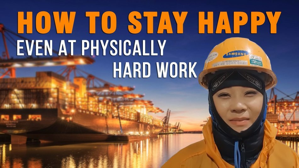 How to stay happy even at physically hard work?