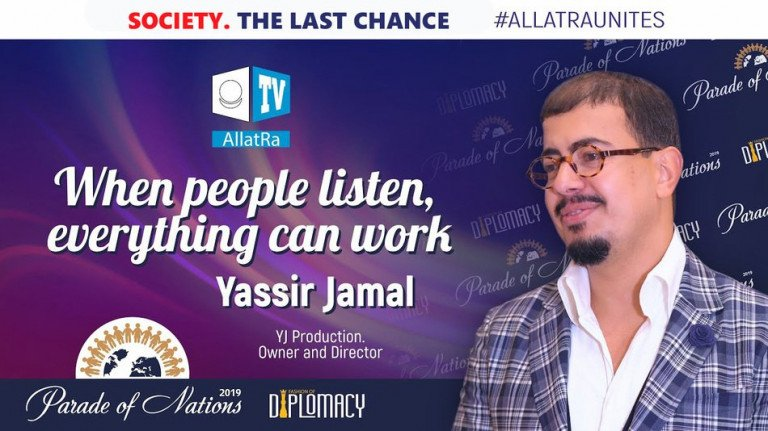 Yassir Jamal. YJ Production. When people listen, everything can work. Parade of Nations 2019