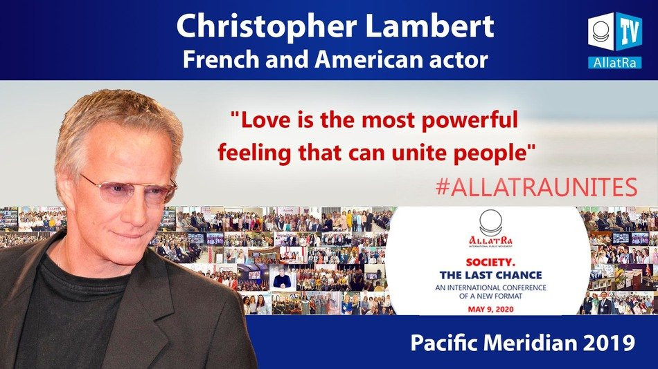 "Christopher Lambert: Interview for ALLATRA TV within the Framework of ""SOCIETY. THE LAST CHANCE"" Project"
