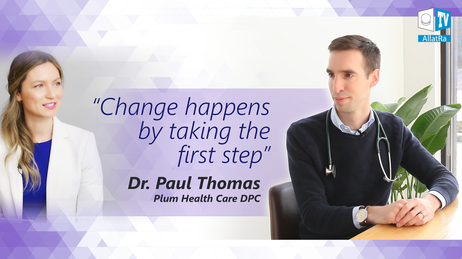 Change happens by taking the first step. Dr. Paul Thomas on ALLATRA TV