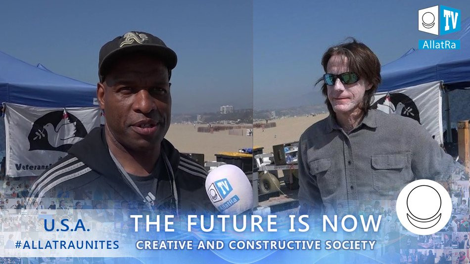 "Veterans for Peace. USA California. ""The Future is Now"" project on the ALLATRA platform"