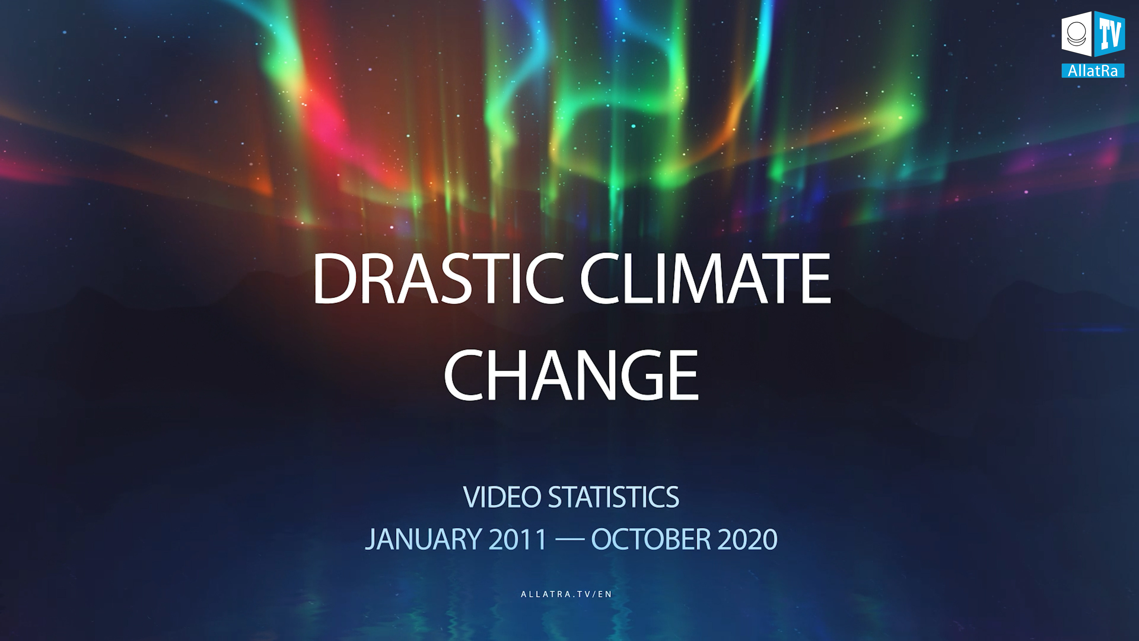 DRASTIC CLIMATE CHANGE. VIDEO STATISTICS. JANUARY 2011 - OCTOBER 2020