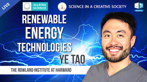 Properties of renewable technologies with Ye Tao from the Rowland Institute at Harvard (USA)