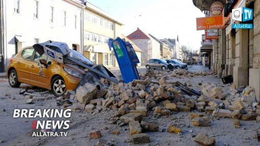 The city is in RUINS! Earthquake M6.4 in Croatia. Storm Bella in Europe. Landslides Iceland, Norway