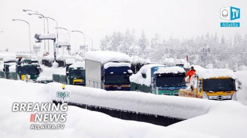 Heavy snowfalls record low temperatures Japan India Siberia Floods in Bolivia Malaysia