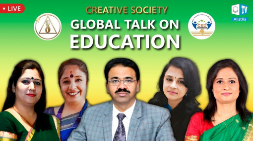 Indian education leaders speaking about the Creative Society