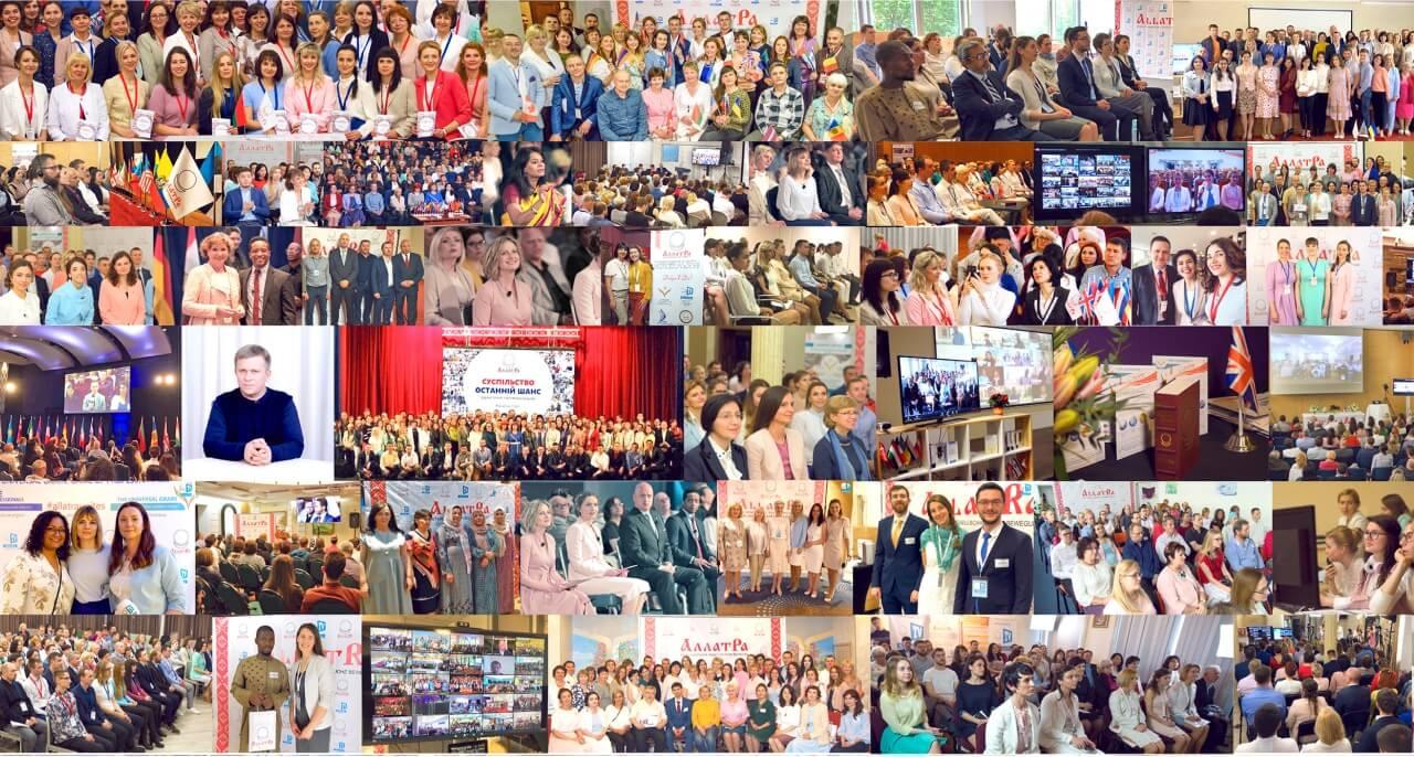 Collage with ALLATRA TV participants