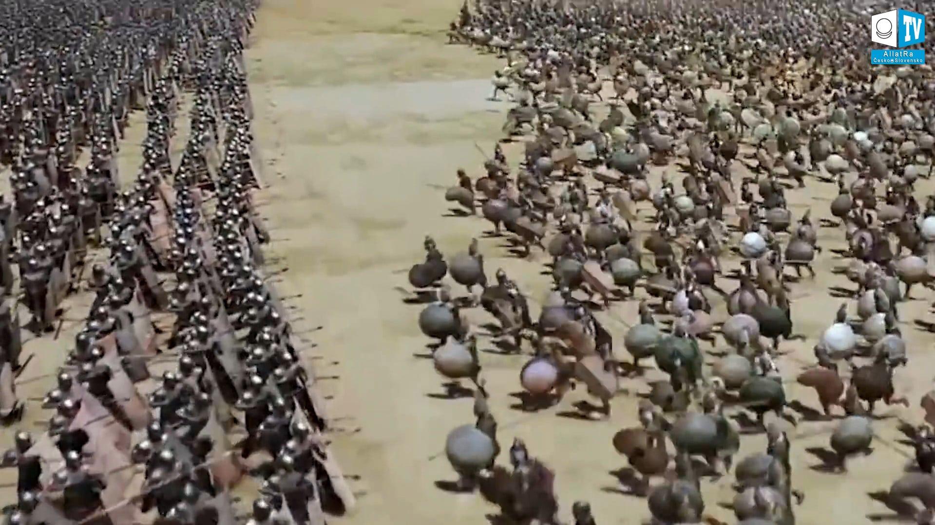 Války starověku. Foto