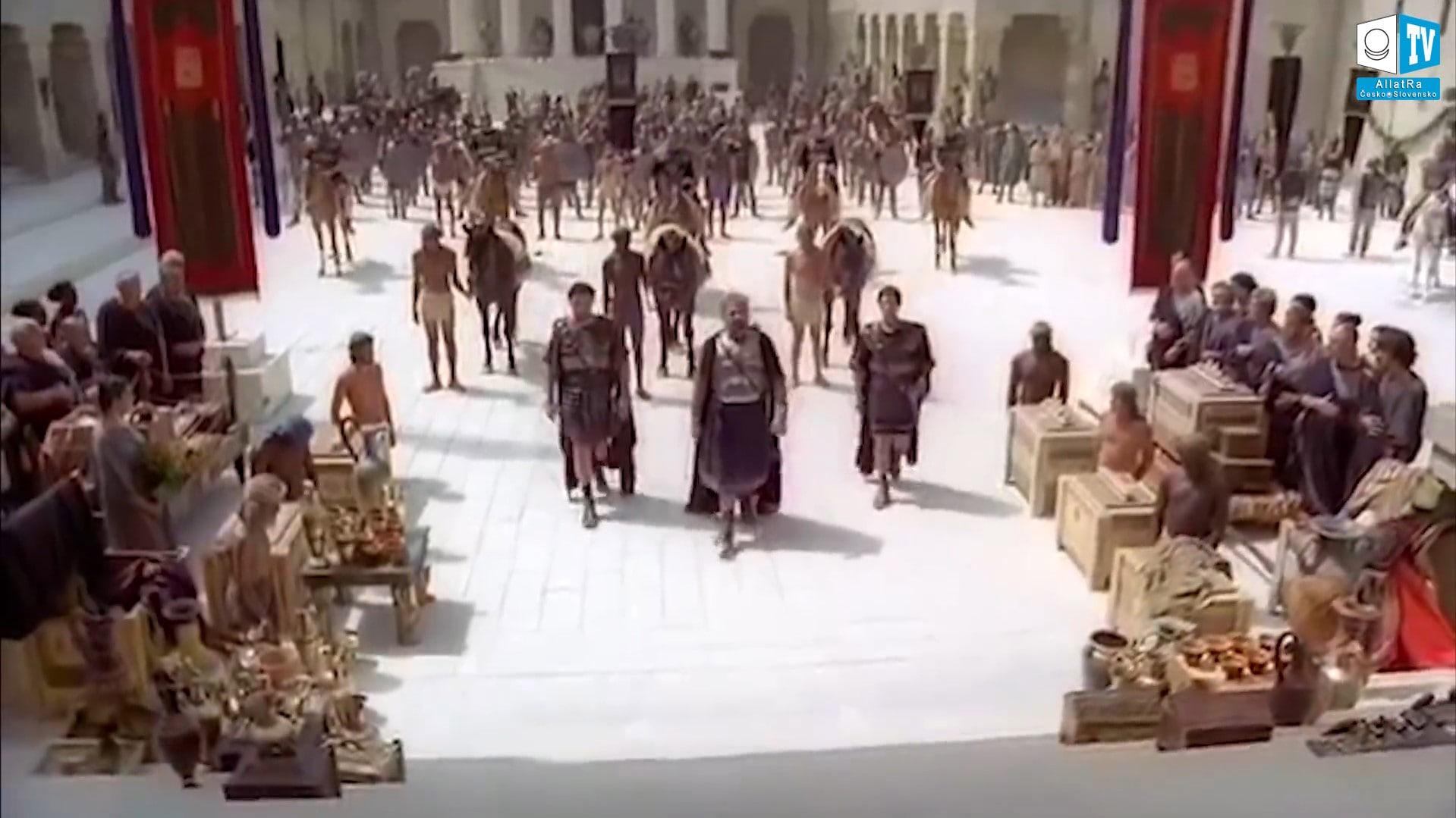 Shromáždění bohů ve starověku. Foto