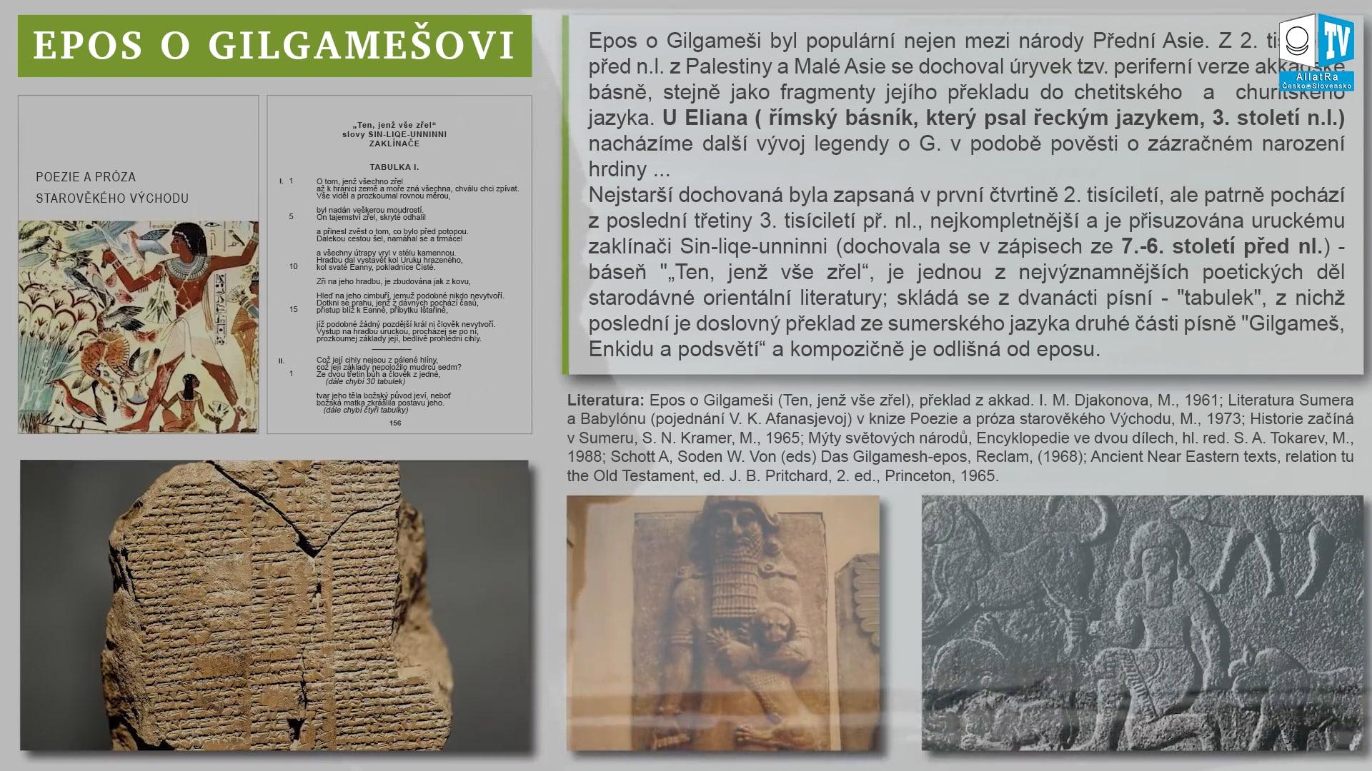 Epos o Gilgamešovi. Foto