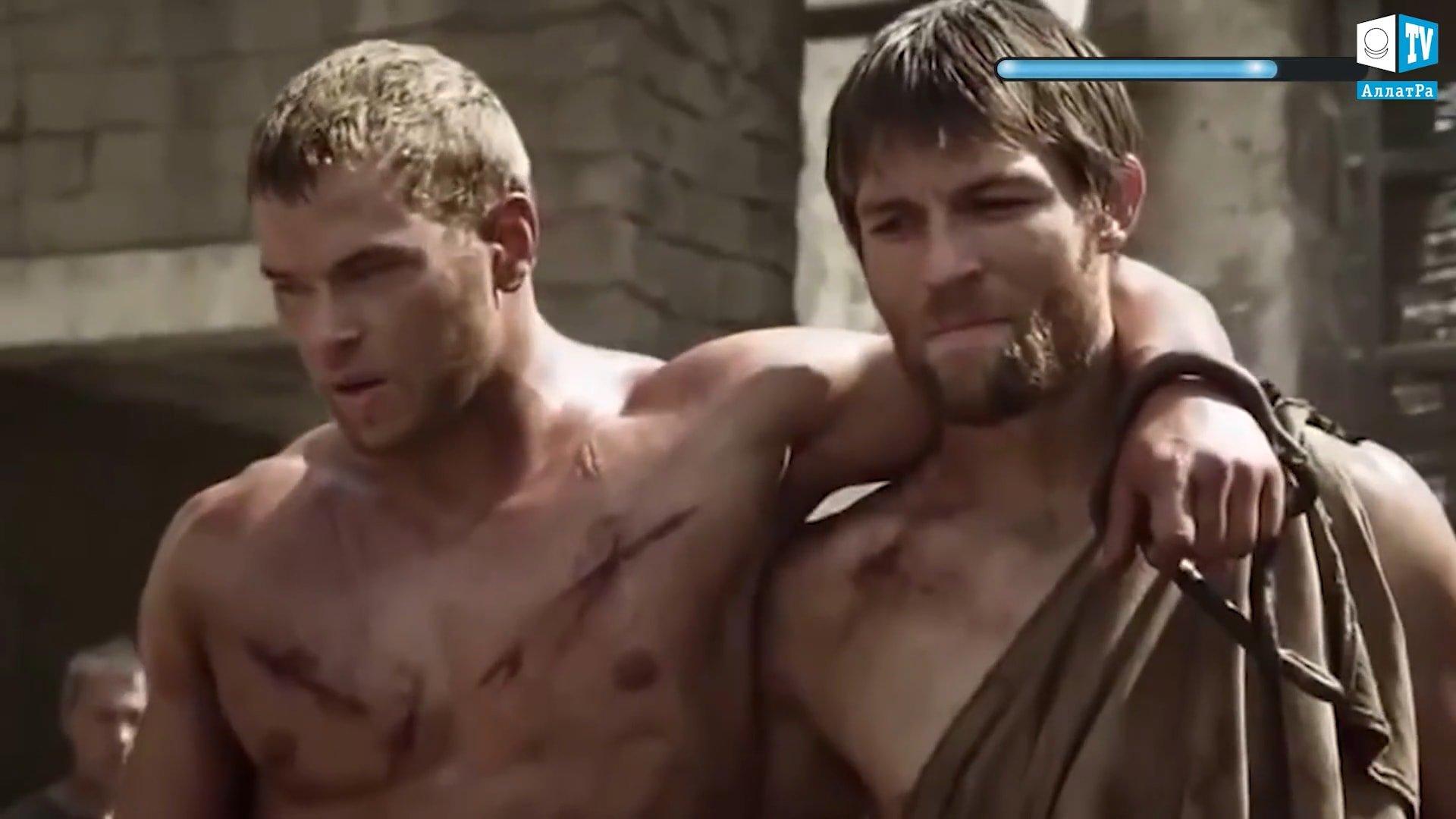 Film o gladiátorech. Foto