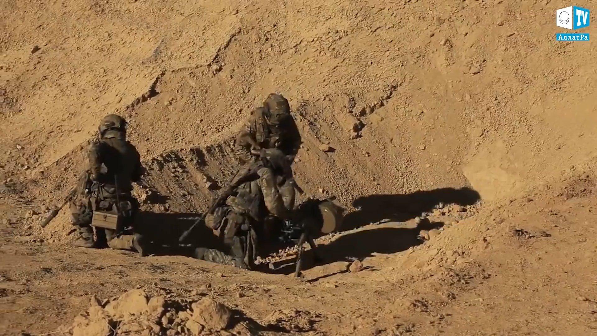 Vojáci v horách. Foto