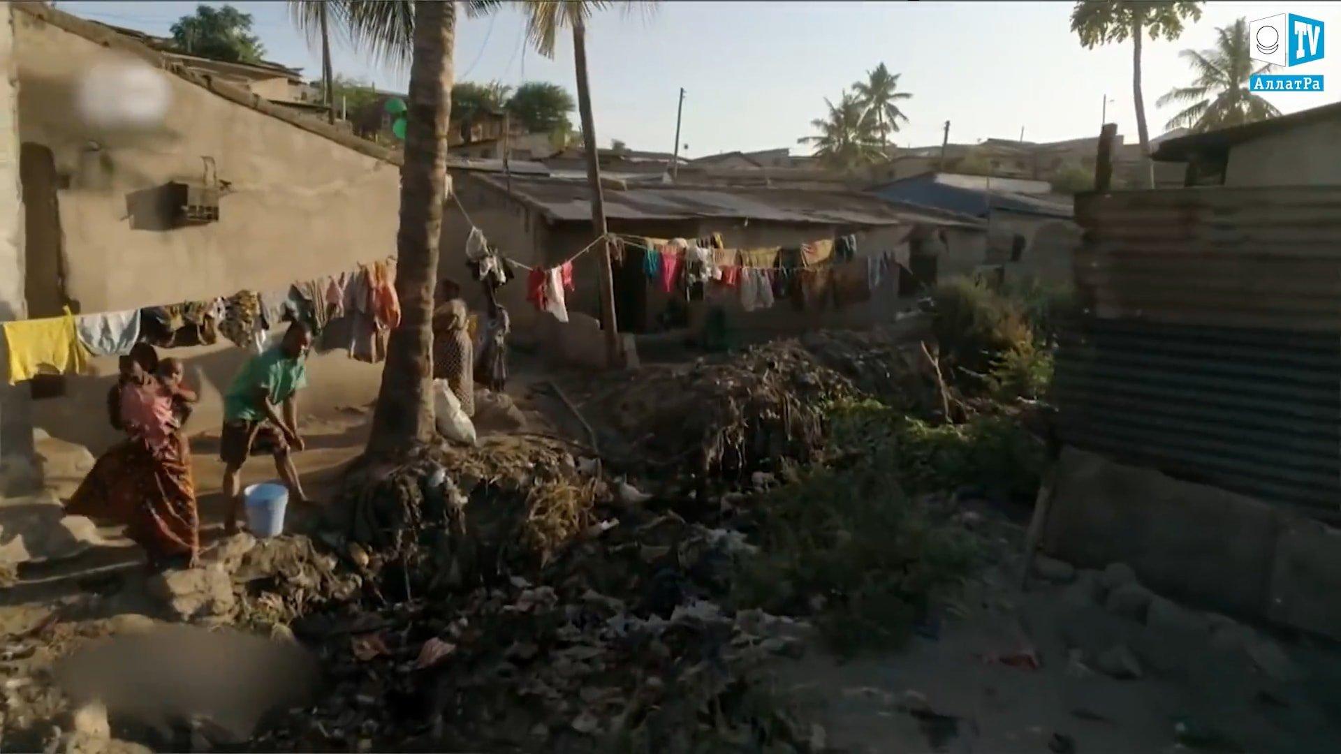 Chudá africká země. Foto