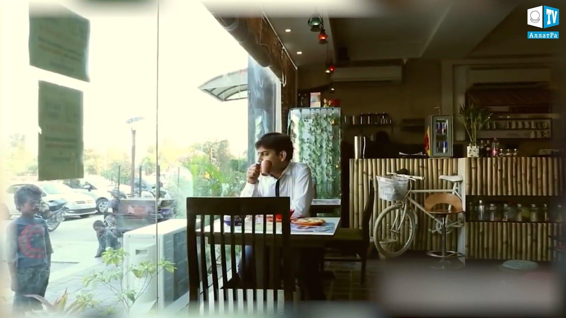 Kavárna v Indii. Foto
